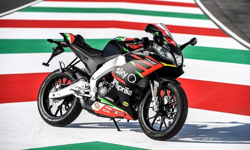 Aprilia GP Replica on racecourse