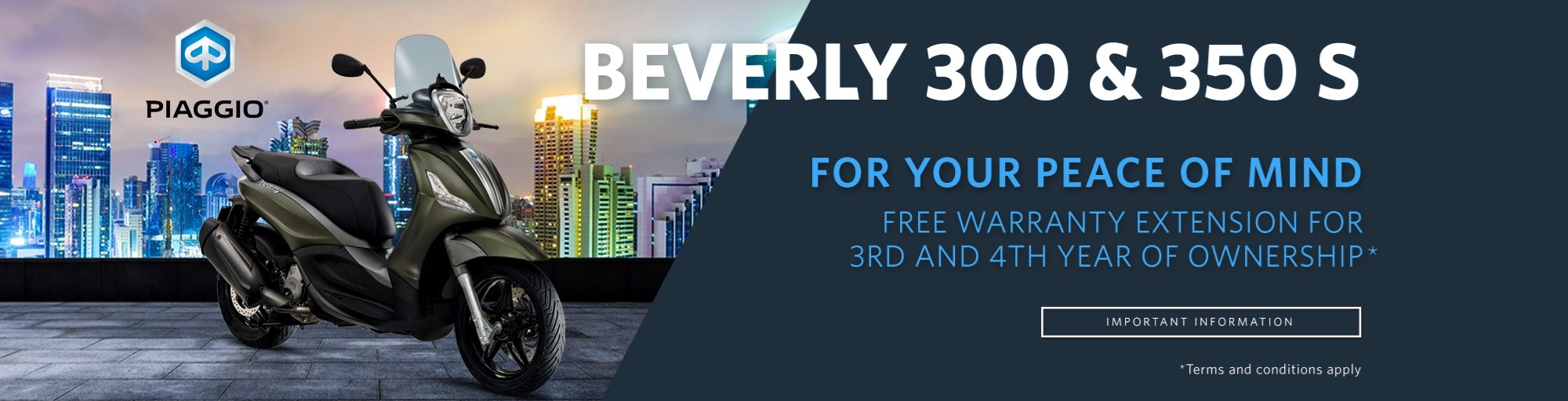 Beverly 300 & 350 S Extended Warranty